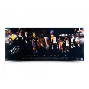 "Shaquille O'Neal Autographed ""Alpha & Omega"" 36 x 15 Photo"