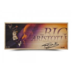 "Shaquille O'Neal Autographed ""Big Aristotle"" Bamboo Print"