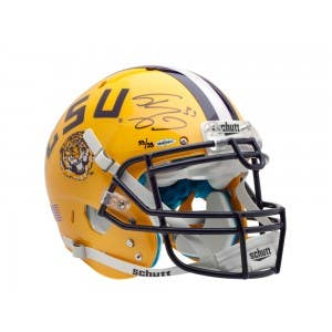 Shaquille O'Neal Autographed Yellow LSU Authentic Helmet