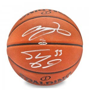 Shaquille O'Neal & LeBron James Signed Authentic Basketball