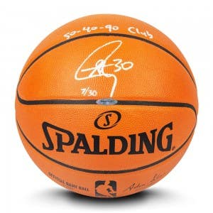 Stephen Curry Autographed & Inscribed Authentic Spalding Basketball