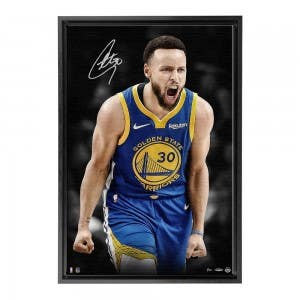 Stephen Curry Autographed Up Close & Personal Framed Canvas