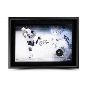 Steven Stamkos Signed & Framed Breaking Through Picture