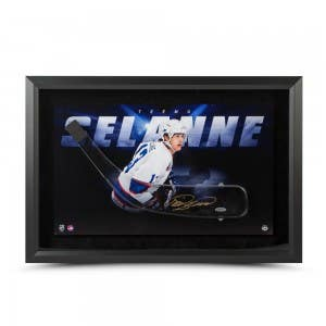 Teemu Selanne Autographed Acrylic Stick Blade with Shadow Watcher Picture Framed
