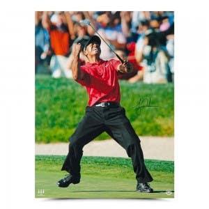 Tiger Woods Autographed 2008 U.S. Open Championship 40 x 30
