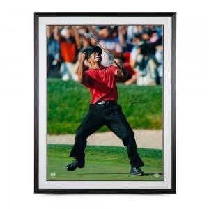 "Tiger Woods Autographed ""2008 U.S. Open Championship"" 40 x 30 Framed"