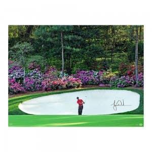 "Tiger Woods Autographed ""Azalea"" 40x30"