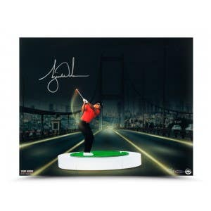 "Tiger Woods Autographed ""The Bridge at Night Print"