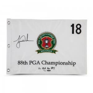 Tiger Woods Autographed & Embroidered 2006 PGA Championship Pin Flag