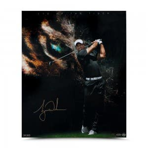 "Tiger Woods Autographed ""Eye of the Tiger"""