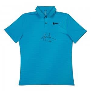 Tiger Woods Autographed Nike Blue Fury Polo