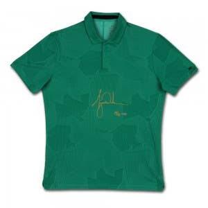 Tiger Woods Autographed Nike Dri-FIT Green Camouflage TW Polo