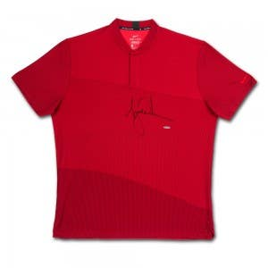 Tiger Woods Autographed Nike Dri-FIT Red TW Polo