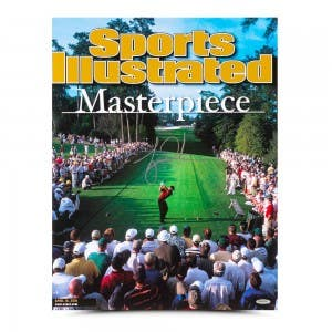 Tiger Woods Autographed Sports Illustrated Cover Print 2001 Masters 15½x20