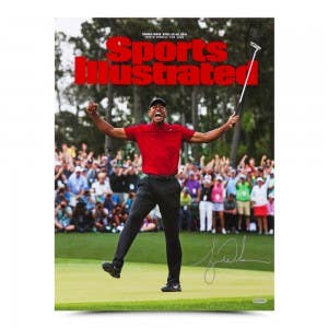 Tiger Woods Autographed Sports Illustrated Cover Print 2019 Masters 15x20