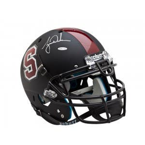 Tiger Woods Autographed Stanford Helmet Black Authentic