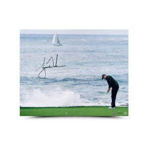 Tiger Woods Autographed Crashing Wave Picture