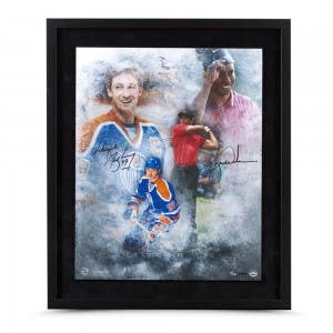 "Tiger Woods & Wayne Gretzky Autographed ""Rarefied Air"" 16 x 20 Framed"