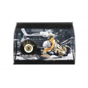 Tim Thomas Autographed Hockey Puck & Curve Display Case