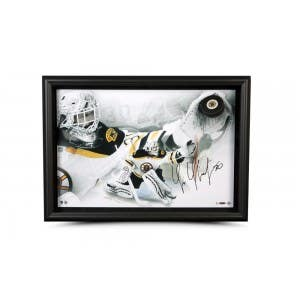 Tim Thomas Signed & Limited Breaking Through Picture