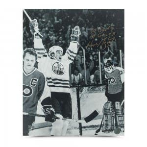 "Wayne Gretzky Autographed ""50 Goals 39 Games Celebration"" 16 x 20"