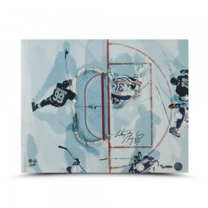 "Wayne Gretzky Autographed ""Aerial Assault"" 16 x 20"