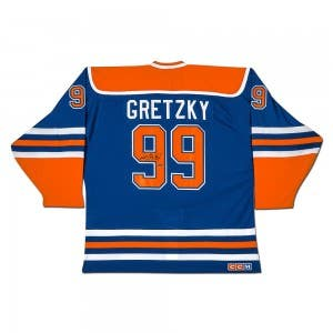 "Wayne Gretzky Autographed Edmonton Oilers ""Heroes of Hockey"" Blue CCM Jersey"