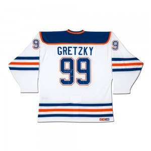 "Wayne Gretzky Autographed Edmonton Oilers ""Heroes of Hockey"" White CCM Jersey"