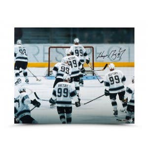 Wayne Gretzky Autographed Respect Photo