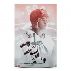 "Wayne Gretzky Autographed ""Sault Ste. Marie Greyhounds"" 16x24"