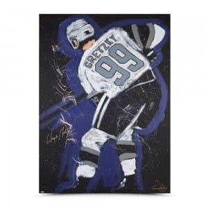 Wayne Gretzky Autographed Tim Decker Original Speed Painting Canvas