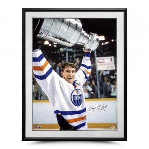 "Wayne Gretzky Autographed ""The Moment"" 30x40"