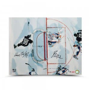 """Wayne Gretzky and Grant Fuhr Dual Autographed """"Aerial Assault"""" 16 x 20"""