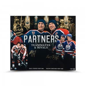 "Wayne Gretzky and Paul Coffey Autographed ""Partners"" 20 x 24"