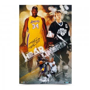 "Wayne Gretzky & Shaquille O'Neal Autographed ""Headliners"" Print"