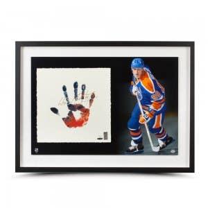 "Wayne Gretzky Signed Oilers ""Tegata"" Lithograph"