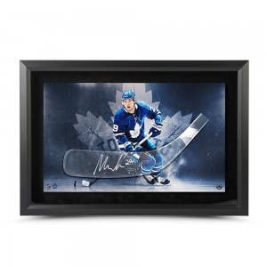 William Nylander Autographed Acrylic Stick Blade with Toronto Maple Leafs Photo Framed