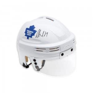 William Nylander Autographed Maple Leafs White Mini Helmet