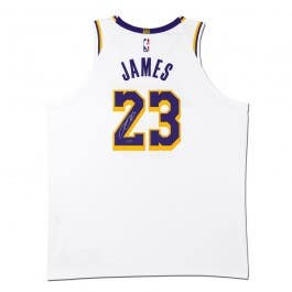 LeBron James Autographed Los Angeles Lakers Association Edition Authentic Nike Jersey