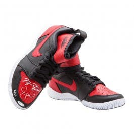 Michael Jordan & Serena Williams Autographed Red & Black Nike Court Flare Air Jordan1 Shoes