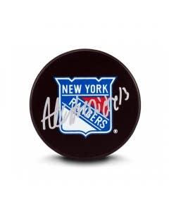 Alexis Lafrenière Autographed New York Rangers Puck