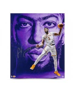 "Anthony Davis Autographed ""Portrait of Success"" 20x24 on Metallic Paper"