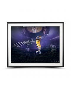 """LeBron James Autographed """"On This Occasion"""" 40x30 Framed"""