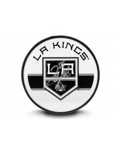 Quinton Byfield Autographed Los Angeles Kings Acrylic Hockey Puck