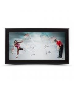 "Tiger Woods and Serena Williams Autographed & Inscribed ""Luminaries"" Framed"