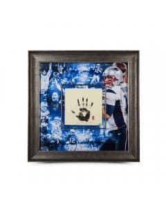 "Tom Brady Autographed & Inscribed Championship Tegata 36"" x 36"""