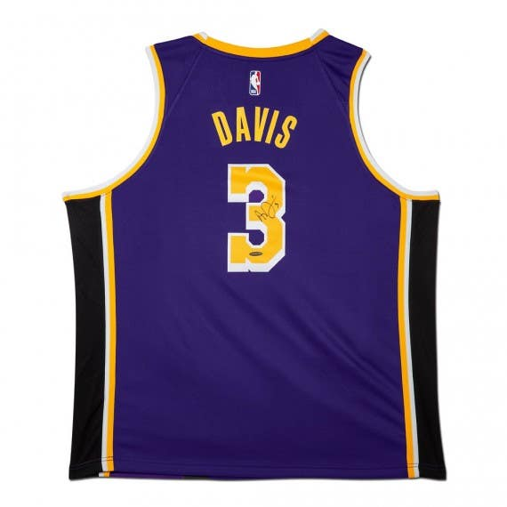 Anthony Davis Autographed Los Angeles Lakers Nike Swingman Statement Edition Jersey