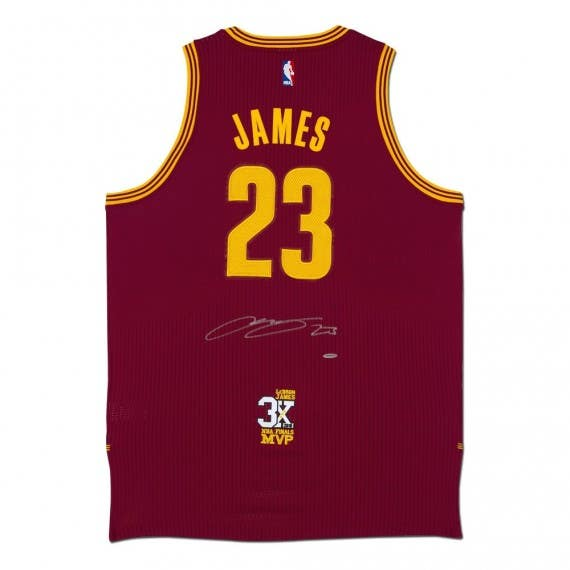 LeBron James Autographed Cleveland Cavaliers Authentic Adidas Wine Jersey With 3X Finals MVP Patch