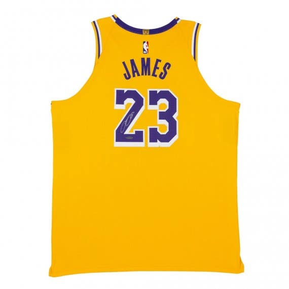 LeBron James Autographed Los Angeles Lakers Icon Edition Authentic Nike Jersey