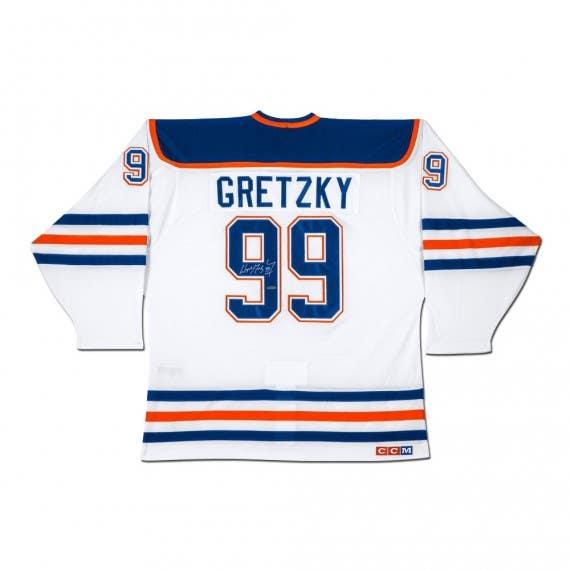 "Wayne Gretzky Autographed Edmonton Oilers ""Heroes of Hockey"" White CCM Jersey"